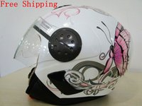 Wholesale Beon helmet B anti uv motorcycle helmet with white butterfly design helmets for motorcycles