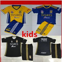 Wholesale Mexican Club Tigres Home Leave rd Star Soccer Jersey Thai Quality Tigres UANL Stars Children s Soccer shirt