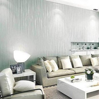 Wholesale Top Quality Fabric Mural Paper Flocking Wallpapers Luxury Embossed Non Woven Wallpapers Sky Blue Wall Papers For Living Room