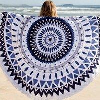 Wholesale Sunflower Tassel Round Beach Towel Cotton Tablecloth Beach Towel Round Yoga Mat