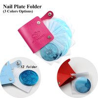 Wholesale Slots Leather Nail Art Stamping Plate Case Bag Folder Nail Stamp Template Holder Album Storage For Dia cm Stencil