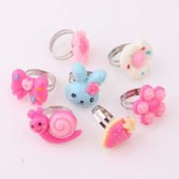 baby onyx - ashion Jewelry Rings Mix Animals Flower Assorted Silver Plated Metal Baby Kids Girl Children s Cartoon Rings Wit