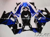 Carenados de alta calidad para Honda CBR600 F2 1991-1994 1992 1993 CBR 600 F2 91-94 CBR600 F2 91 92 93 94 # d7t34 carenados de color azul negro