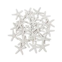 Wholesale 25 Pieces White Resin Pencil Finger Starfish for Wedding Decor Home Decor and Craft Project Inches