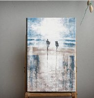 beach art decor - Abstract Landscape Beach Pure Hand Painted Modern Wall Decor Abstract Art Oil Painting On High Quality Canvas Multi customized size a mei