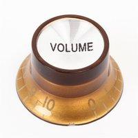 Wholesale Dark Brown Volume Guitar Knobs Potentiometer Cap Top Hat for SG LP Style Guitar Aluminum Dome Bell Shape