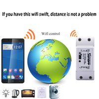 Wholesale New Wifi Switch Sonoff Intelligent WiFi Wireless Smart DIY Switch MQTT COAP Android IOS Remote Control For Smart Home