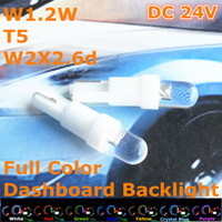 T5 backlight bulbs - T5 DC V Full Color Bulbs Auto Car Spares Parts Bulbs Lamps Lighting mm Spot LED for Dashboard Centre Console Backlight