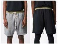 Wholesale Black Grey Sweatpants Joggers Best Version Kanye West Fog Urban Clothing Justin Bieber Fear Of God Drop Crotch Harem Shorts