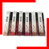 Wholesale KYLIE Liquid Matte Lipstick Makeup Lip Gloss Makeup with NEW Colors Moon Spice Trick Smile and