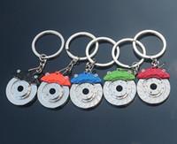 auto part brake disc - 2016 New Creative Hot Sale Auto Parts Model zinc alloy Motorcycle Car Disc Brake Shape Keychain Keyring Key Chain Ring Fob