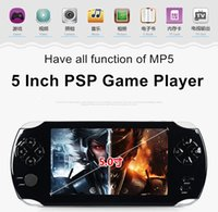 9000+ Jeux gratuits Big Screen MP3 / MP4 / MP5 / FM / Caméra 5 pouces 8G PSP Game Player Handheld GBA Consoles