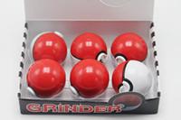 aluminum games - Pokeball Grinder Tobacco Herb Crusher Grinder Aluminum mm Parts Newest Game Pokeman grinder and Poke ball Pikachu Design