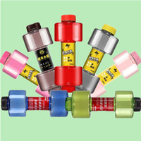 Wholesale 8 ad Convenient Fitness Dumbbells Kettle Do Not Break Soda ml Cups Cylindrical High Leakage Plastic Water Bottles Hommization