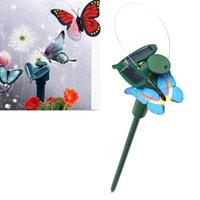 Wholesale Solar Powered Dancing Flying Butterfly Garden Decoration Color At Random BS88