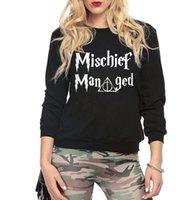 american manage - Mischief Managed Women kawaii pink hoodies autumn harajuku fleece brand sweatshirt HARRY POTTER femme plus size tracksuits