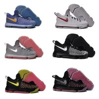 2016 Hot Sale KD 9 Chaussures de basket-ball pour homme KD9 Oreo Loup gris Kevin Durant 9s Sports pour hommes Sports Sneakers Warriors Accueil US Taille 7-12