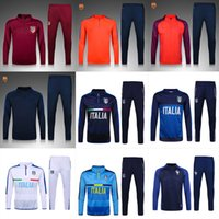 Men ankle pocket - 16 BARC ITALY BLUE Football Soccer Tracksuits FRANCE INTER MADRID tracksuits survetements Men quot s clothing new Tracksuits