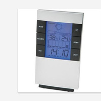 Wholesale High precision Weather forecast Indoor temperature humidity Meter Digital Thermometer Hygrometer Moisture Meter LED Backlight LCD Display