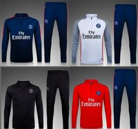 Wholesale 2017 DI MARIA CAVANI VERRATT Paris Soccer Jerseys Thai quality Saint training suit Jacket Germain Football jersey Shirts