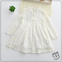 beach ball costume - Baby Girl Lace Dress Toddler Girls Floral Embroidery Summer Dresses Spring Princess Dress For Party Kids Clothing Girls Costumes S034