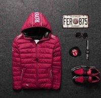 achat en gros de manteaux de jeunesse vente-Mode de la jeunesse vers le bas de la veste d'automne et d'hiver de coton épais Les hommes occasionnels un manteau court M-XXL Vente en gros
