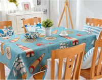 Wholesale Fahion tablecloth thick cotton and linen texture hippocampal starfish table cover can be customized Tablecloth