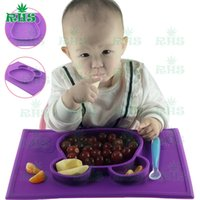 baby healthy - Baby feeding children silicone plate set food grade silicone safe and healthy products easy clean and use S