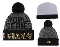 Wholesale New Cubs Beanies Cap World Series Champions Caps Baseball Sport Knit Hat Pom Knit Hat Mix Match Order All Caps Top Quality