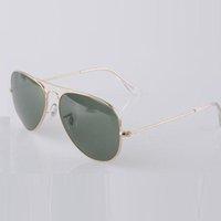 Marque lunettes de soleil classiques de pilote 58mm Lunettes de soleil de mode de vacances lunettes de soleil hommes pour femmes avec accessoires de produits gratuits