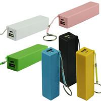 al por mayor cargador clave iphone-Cargador de batería portable portable del banco de la energía 2017 portable 18650 cargador de batería con el usb del cargador de la cadena dominante para Iphone