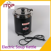 bain marie food - ITOP Electric Soup Kettle V V Wet Heat Food Boiler Commercial Catering Stew Sauce Food Warmer Bain Marie Pot L