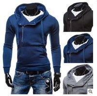 achat en gros de hiver polaire veste à capuche en dentelle-Automne et hiver style chaud de nouveaux hommes lace-up à capuchon solide couleur zipper tête veste polaire