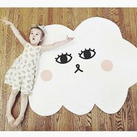 Motif de tapis de bébé Prix-2017 Hot Kids Game Mats Baby Cartoon Cloud Smile Pattern Crawling Blanket Round Play Mat Chilren Play Tapis Carpet Chambre pour bébés