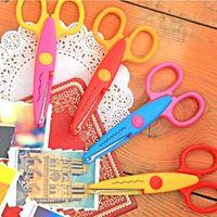 Wholesale 6x Scissors DIY Decorative Craft Border Scallop Wavy Fancy Pinking Shears E00129 ONET