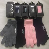 Wholesale Factory price Screen Touch Gloves Unisex for iphone ipad finger Touch Screen Glove with iglove LOGO
