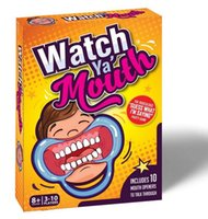 Wholesale Watch Ya Mouth Party Game Cards Funny Game Cards Mouth Openers Speak Out Game Cards