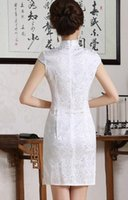 Wholesale 2016 autumn and winters jacquard cotton daily short sleeved dress cheongsam dress to restore ancient ways of cultivate one s morality fashio