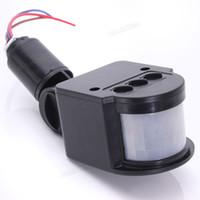 al por mayor conmutación automática de la luz-110-220V LED infrarrojo al aire libre Detector de movimiento PIR detector de pared Interruptor automático Conveniente Práctico práctico LEG_70A