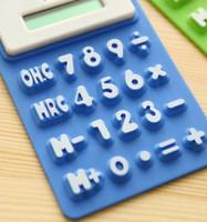 Wholesale Solar silicon calculator portable soft keyboard student color mini calculator