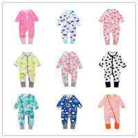 Wholesale 2017 Spring Christmas Baby Rompers Striped Plaid Kids Boy Girl Xmas Long Sleeve Romper Quality Zipper Jumpsuit Dot Child Cotton Clothes
