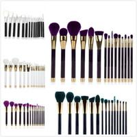 Joli vert Prix-HOT Pretty 15PCS Cosmetic Maquillage Brosse Maquillage Brush Eyeshadow Brosse Vert Violet Livraison gratuite