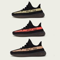 best red shoes - Newest BOOST V2 Sply Gray BY9612 BY1605 Kanye West Black Red Copper Green Best Quality MEN Running Sneaker Shoes