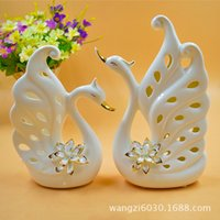 art design furniture - H1190 Trace A Design In Gold Swan Ceramics Arts And Crafts Lovers Originality Ceramics Goods Of Furniture For Display Rather Than For Use Ho