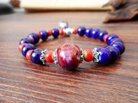 Wholesale Product number Purple beaded bracelet pendant Material high white mud Style small fresh Product process hand made