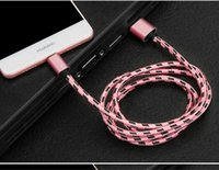 android usb drives - S6 Woven USB Cable A Fast Colorful Charging Cable V8 For Android System USB Drives