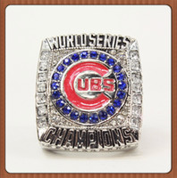 baseball party plates - REPLICA CHICAGO CUBS BASEBALL WORLD SERIES CHAMPIONSHIP RING WITH HIGH QUALITY MEN JEWELRY For Christmas Gifts no box