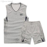Wholesale New arrival summer Running Sets Men sleeveless vest shorts Suit Sportswear O neck vest shorts Tracksuit large size