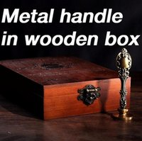 Wholesale customize Metal handle wax seal Stamp with Wooden Box Twilight Greetings Harry Potter alphets Retro Sealing Deluxe Gift set