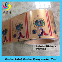 Wholesale Custom perfect design Exclusive Elegant wine sticker label printing